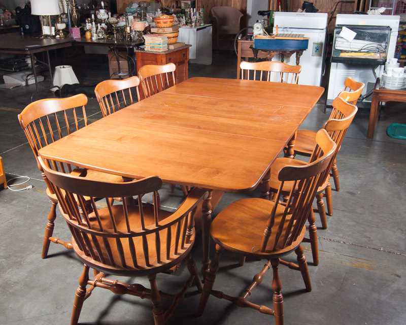 S Bent and Bros Maple Dining Room Set EBTH
