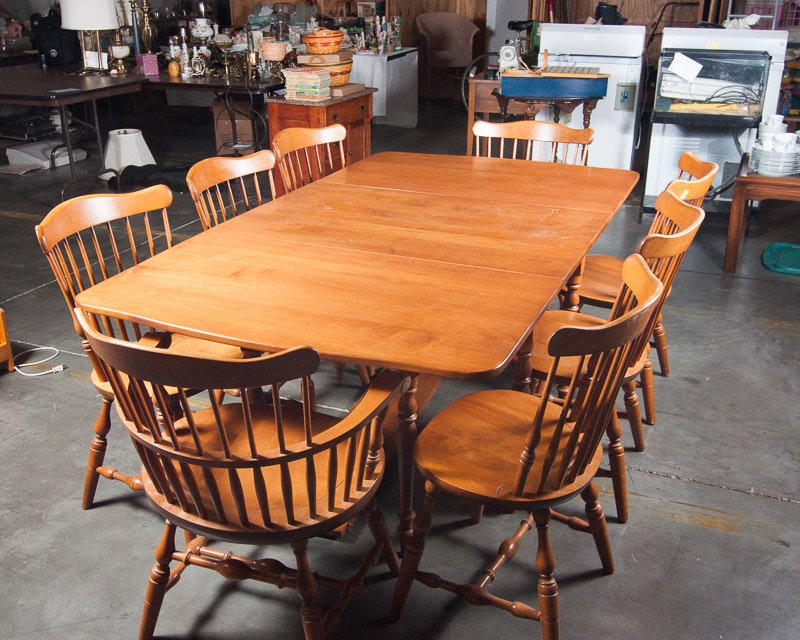 Maple Kitchen Table With Chair And Bench Ebth: S. Bent And Bros. Maple Dining Room Set : EBTH