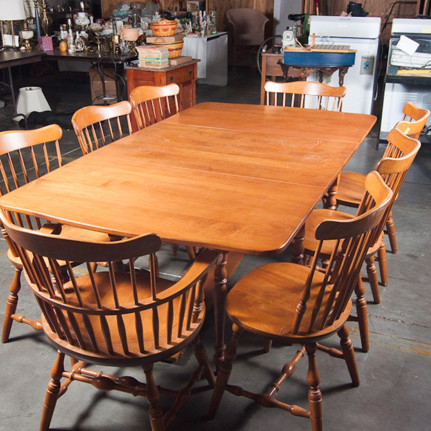 S. Bent And Bros. Maple Dining Room Set