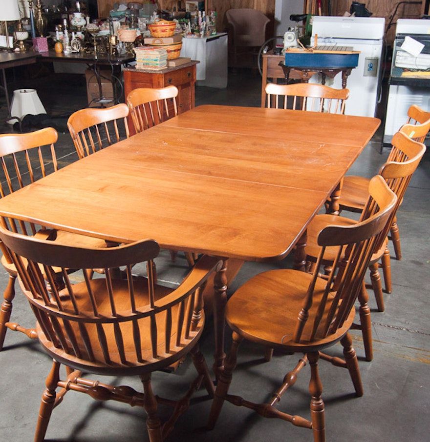 S. Bent and Bros. Maple Dining Room Set : EBTH