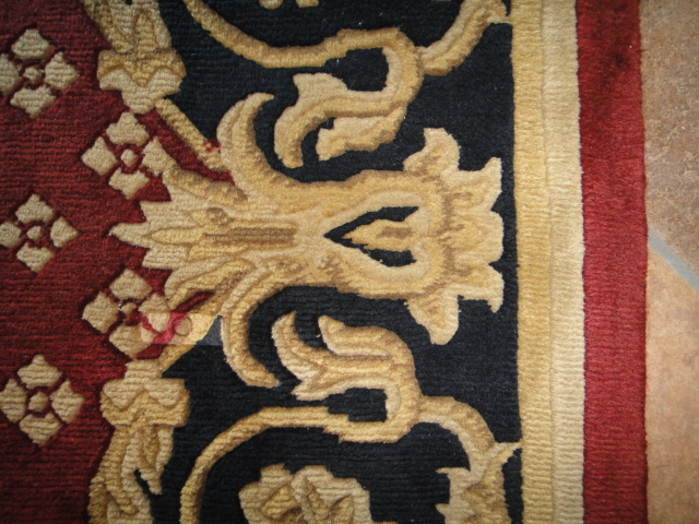 Navy, Red and Gold European Style Area Rug 12x9 : EBTH