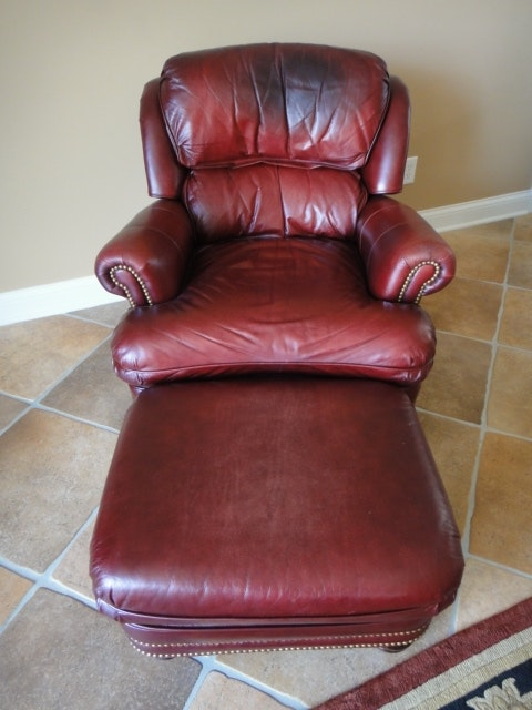 Hancock Amp Moore Austin Oxblood Leather Chair Ebth