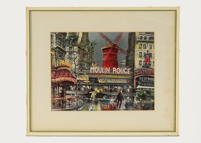 Maurice Legendre Photo Offset Lithograph Of Moulin Rouge