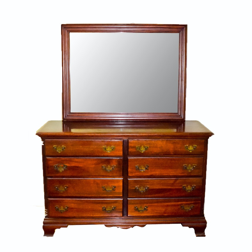 Memphis Furniture Company: Hungerford Mahogany Dresser With Mirror
