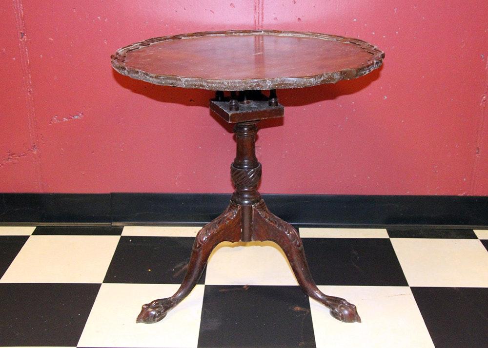 Vintage Mahogany Tilt Top Pie Crust Table ...