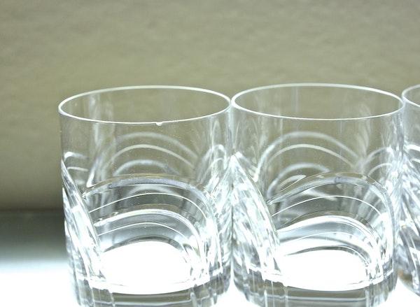 "Four Rogaska ""Maestro"" Double Old Fashion Glasses : EBTH"