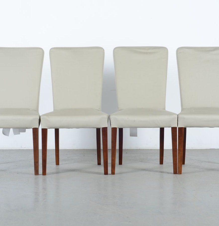 Four Quot Megan Quot Dining Chairs By Pottery Barn Ebth