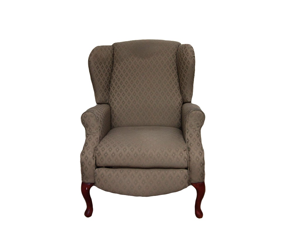 queen anne style wingback recliner