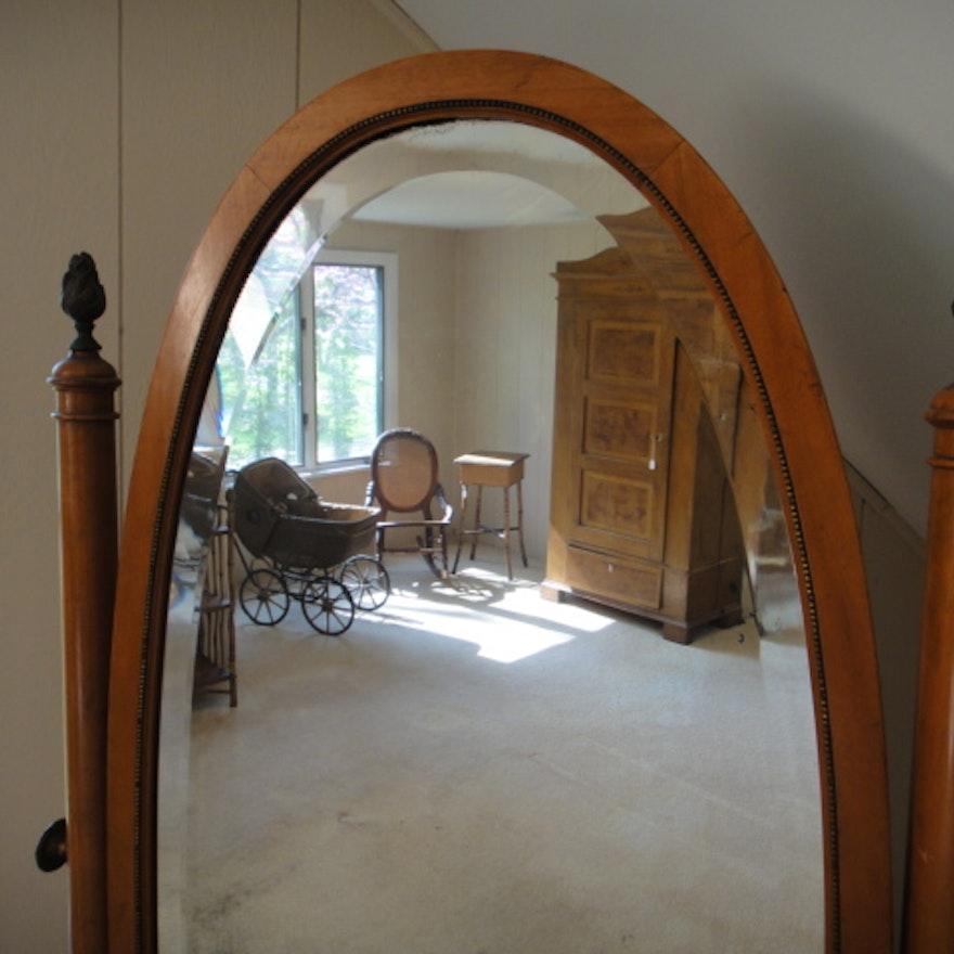 Vintage Oak Oval Floor Mirror : EBTH