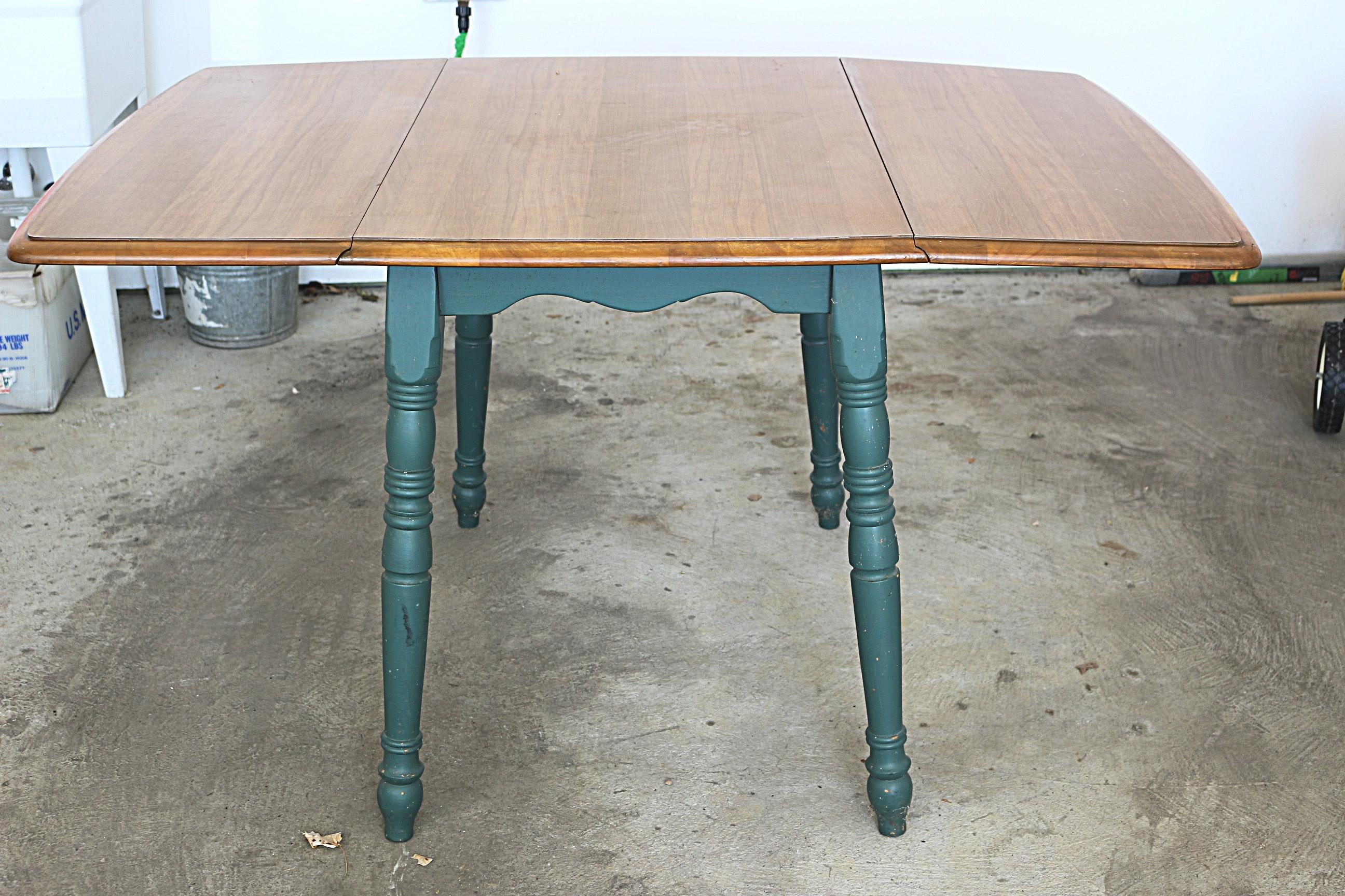 vintage dropleaf dining table