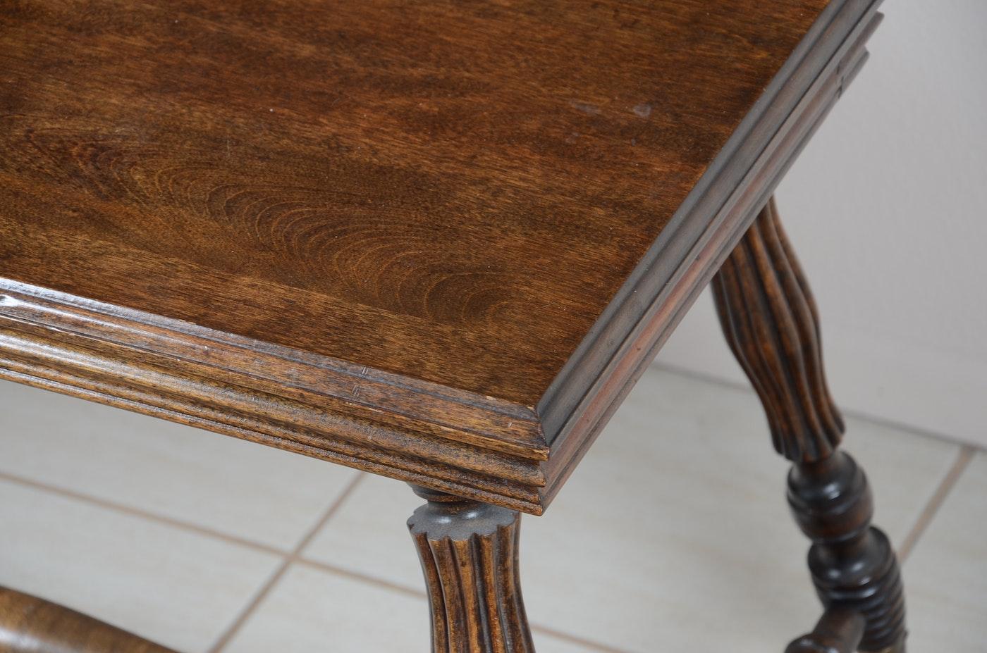 1900 Oak Library Table Ebth