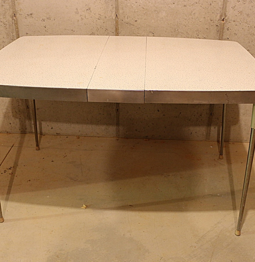 Retro Metal And Formica Kitchen Table Circa 1950s Ebth