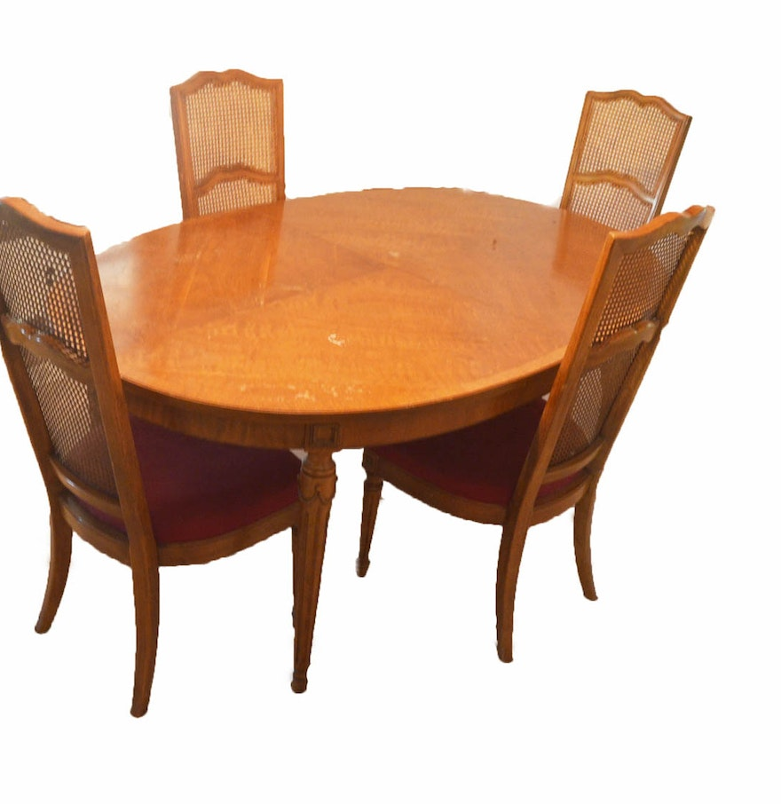 Thomasville Dining Room Chairs: 1965 Thomasville Dining Table And Chairs : EBTH