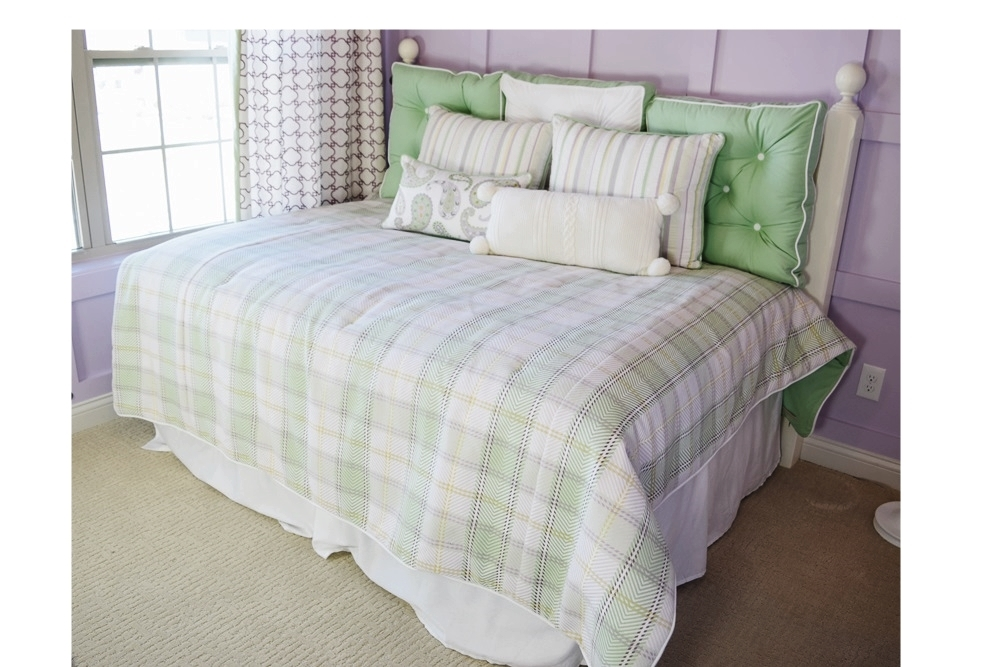 Full Size Bed Used as Day Bed with Headboard, Mattress & Bedding ...