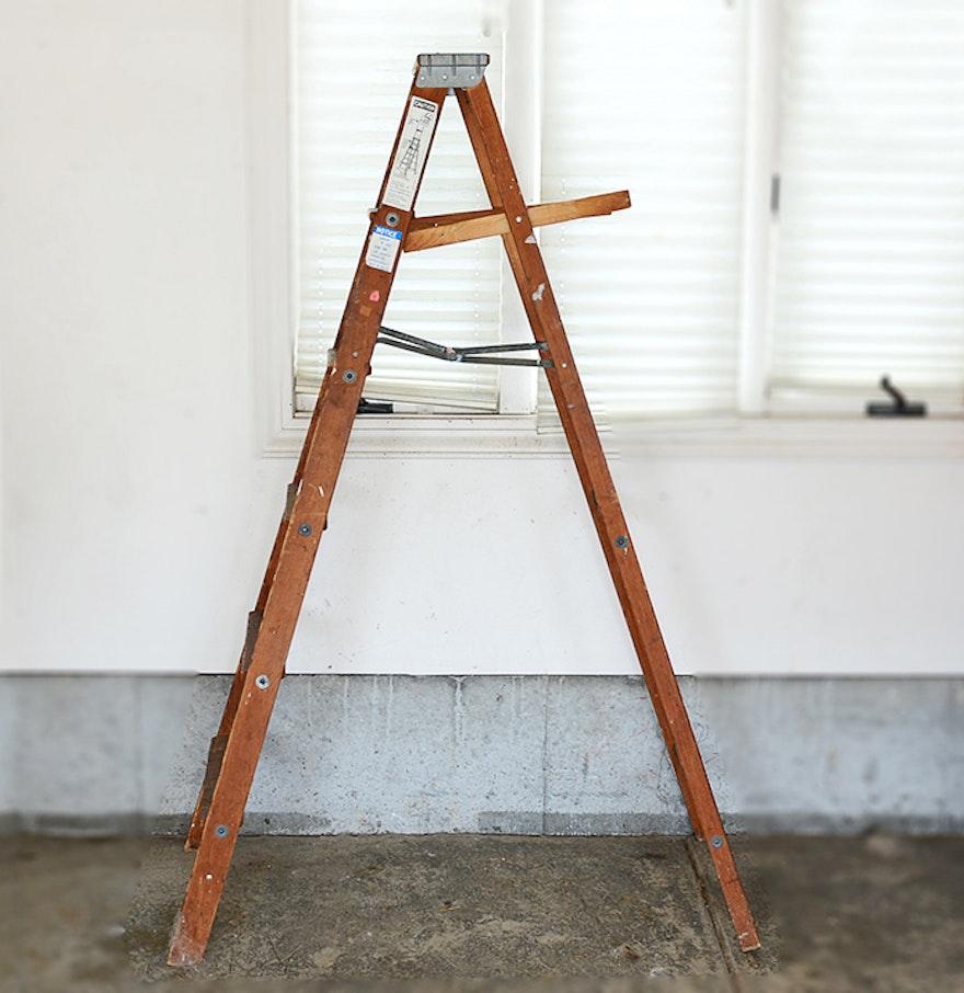 archbold a frame wooden ladder