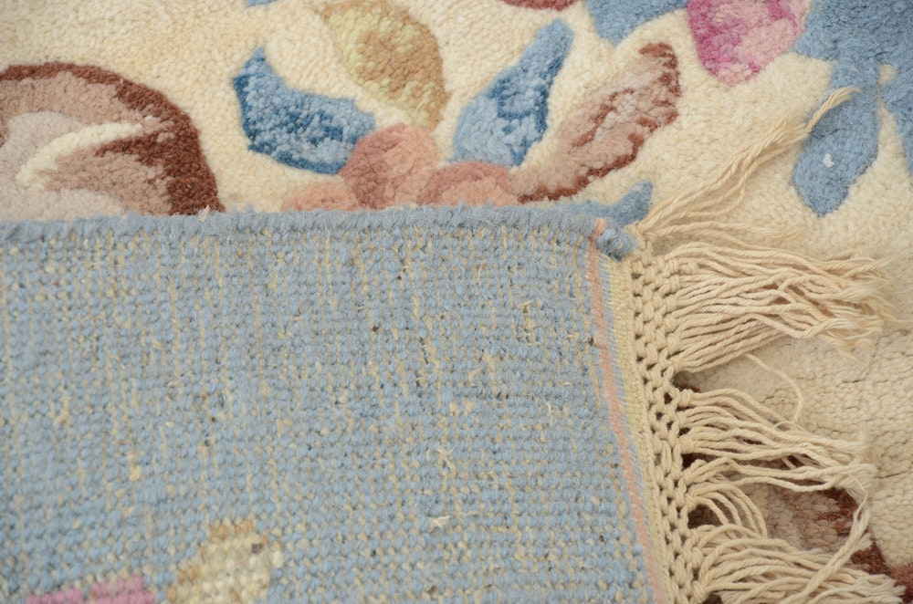 Hand Woven Indian Cottage Industry Rug Ebth