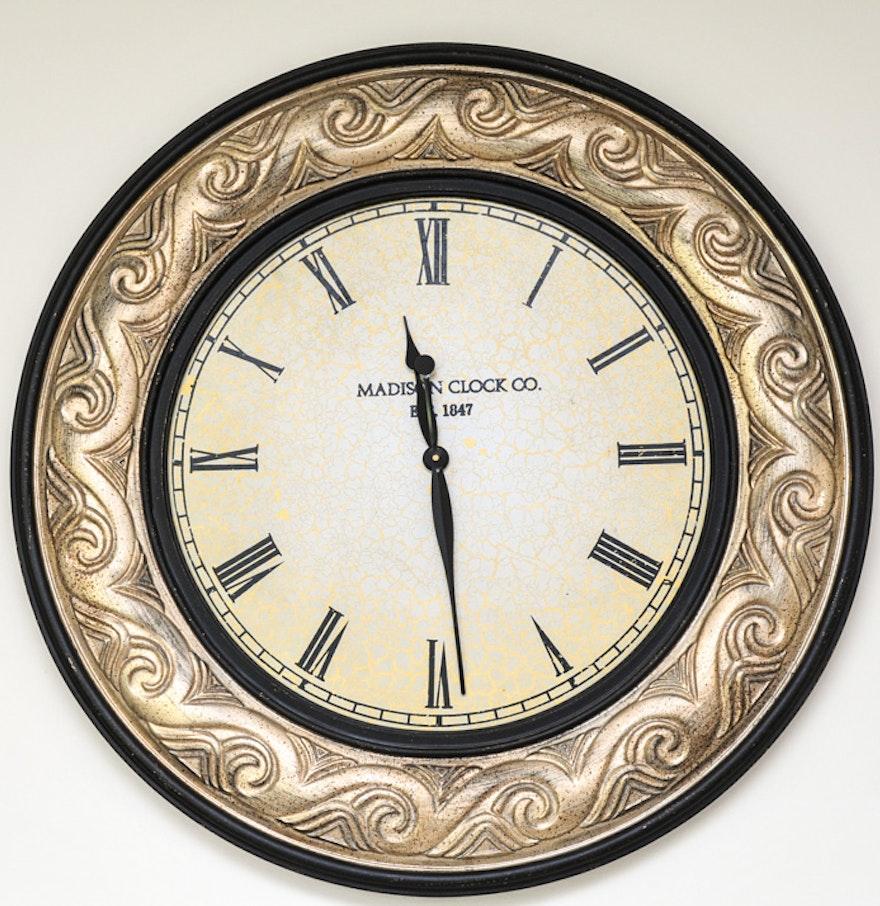 Extra Large Decorative Clock By Madison Clock Co Ebth