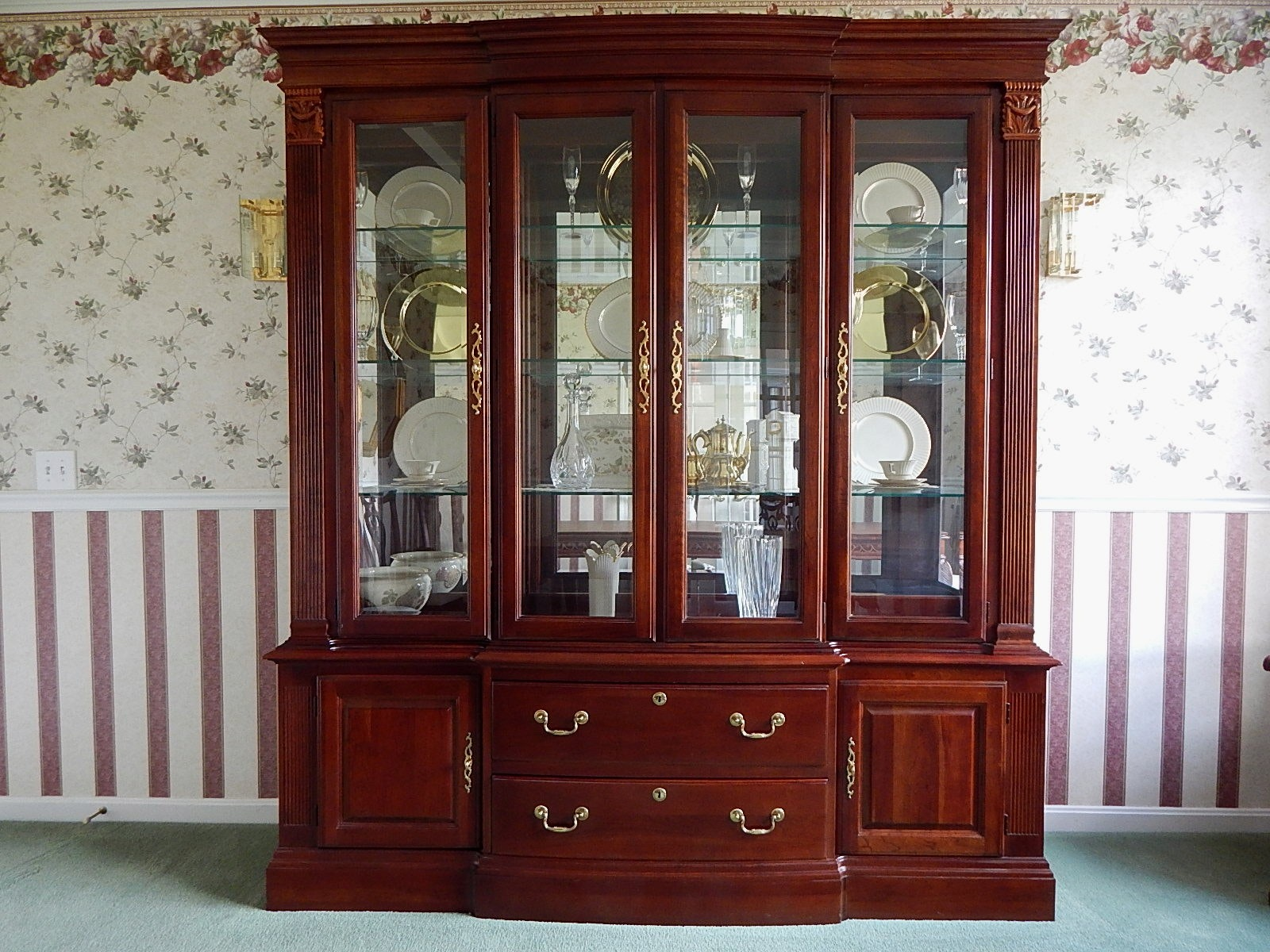 Beau Pennsylvania House Cherry China Cabinet ...
