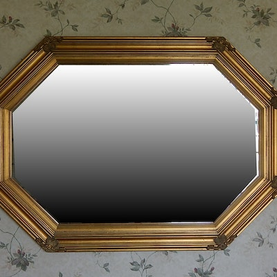 Two framed transitional prints ebth for Octagon beveled mirror