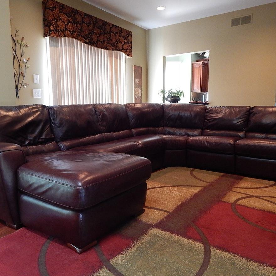 sale retailer 8fda1 6dd26 Burgundy Leather Sectional Sofa