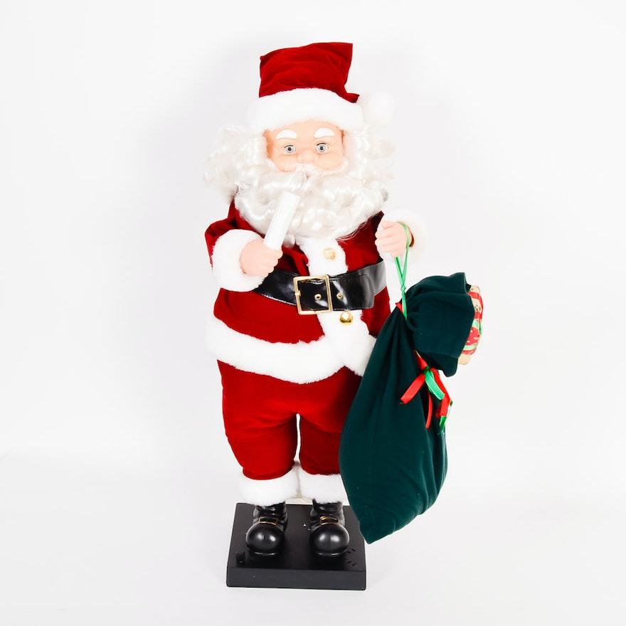animatronic musical santa claus - Animatronic Christmas Decorations