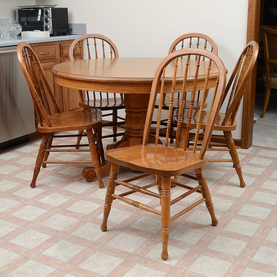 Oak Table And Chairs For Kitchen Kitchen table and chairs by walter of wabash ebth kitchen table and chairs by walter of wabash workwithnaturefo