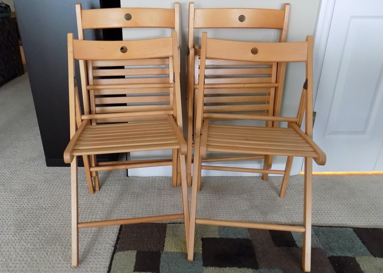 Four Ikea Terje Folding Chairs ... & Four Ikea Terje Folding Chairs : EBTH