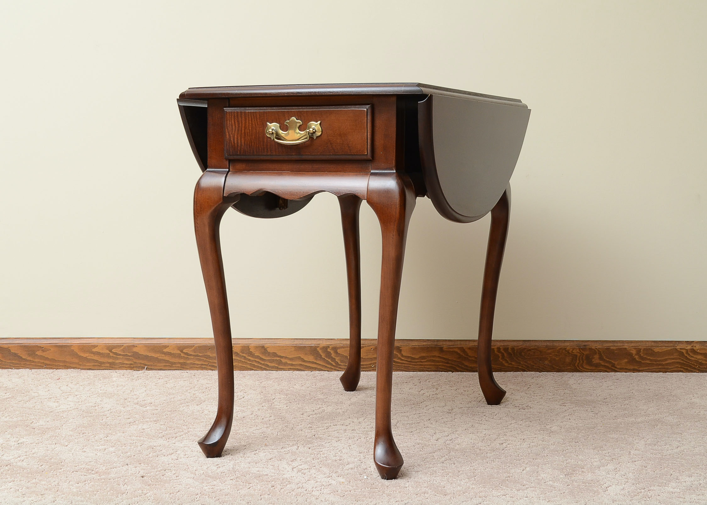 Walnut Drop Leaf End Table By Hammary ...