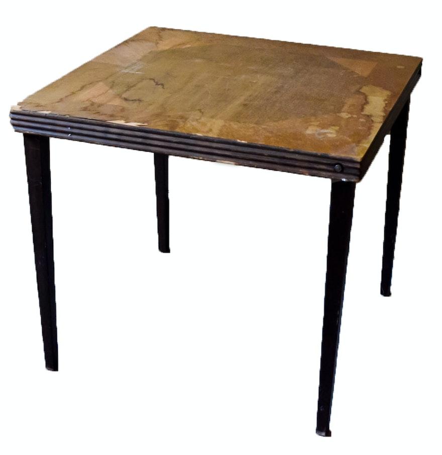 1930s folding card table ebth. Black Bedroom Furniture Sets. Home Design Ideas