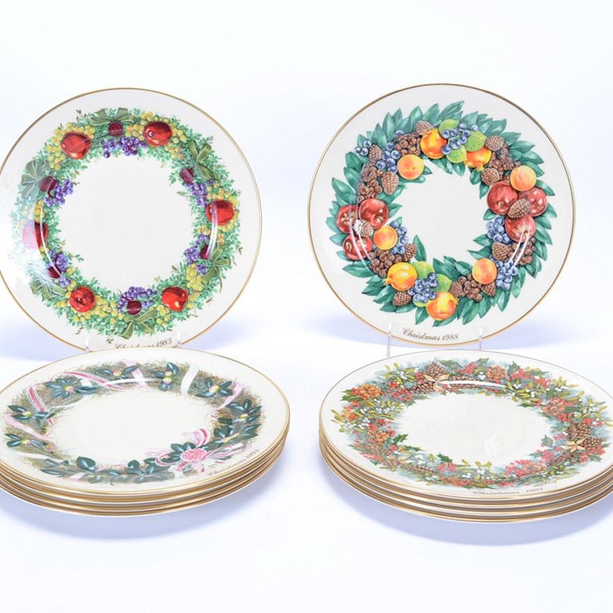 ten lenox collectible christmas plates