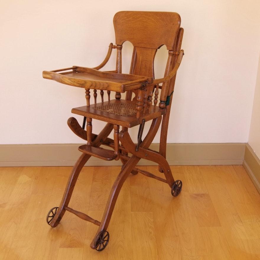 Antique Convertible High Chair ... - Antique Convertible High Chair : EBTH