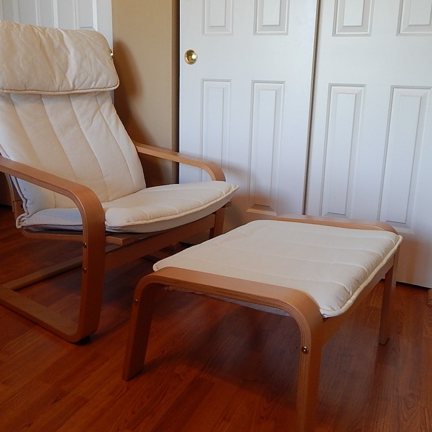 Awe Inspiring Ikea Poang Chair And Footstool Ibusinesslaw Wood Chair Design Ideas Ibusinesslaworg