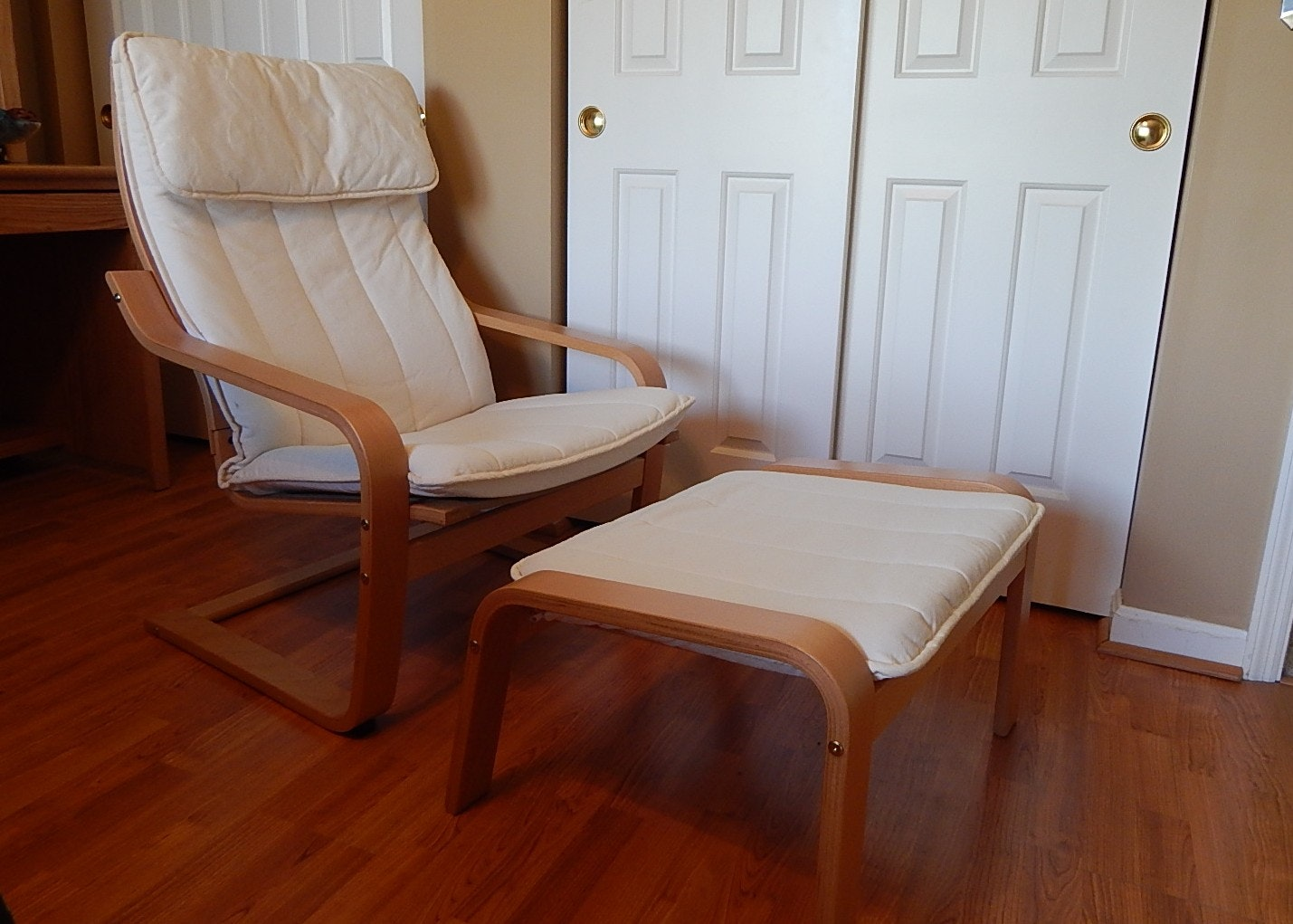 Ikea Poang Chair And Footstool ...