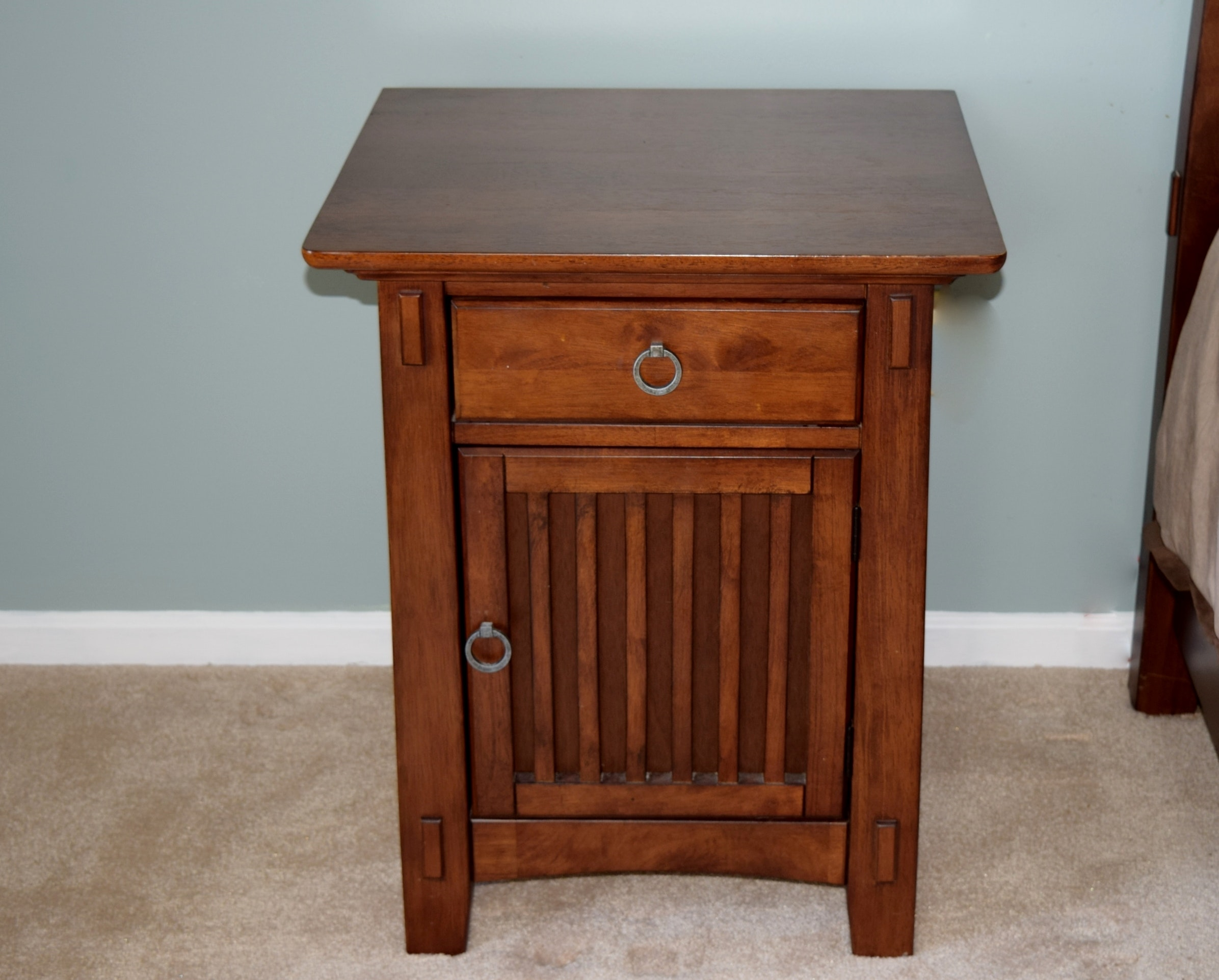 American Signature Arts and Crafts Bedroom Nightstand