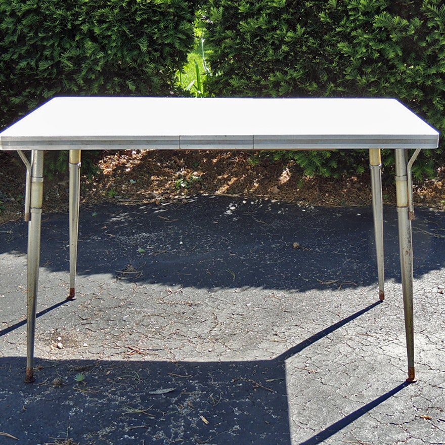 Mid Century Modern Chrome And Formica Table EBTH - Mid century modern formica table