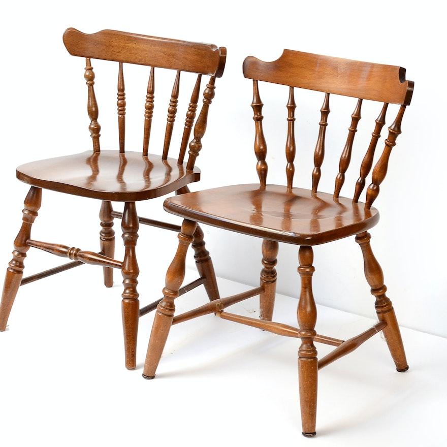 Two Stuart Temple Rockport Maple Captain S Chairs