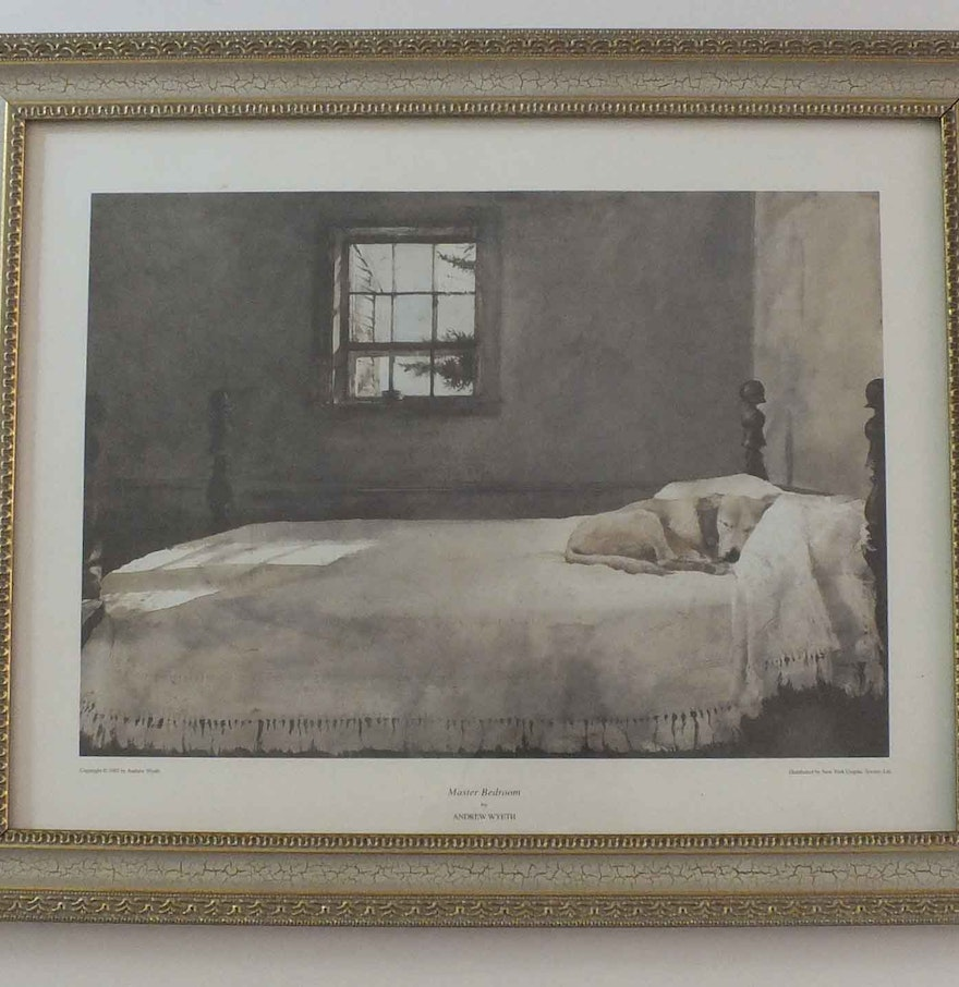 Master Bedroom  Print by Andrew Wyeth. Master Bedroom  Print by Andrew Wyeth   EBTH