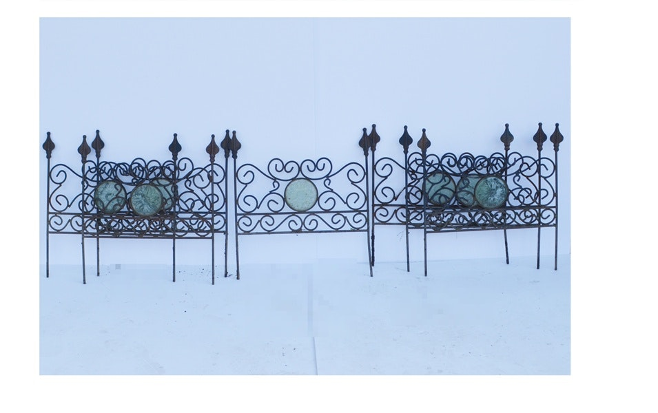 Ornamental Wrought Iron Victorian Style Garden Fence Sections ...