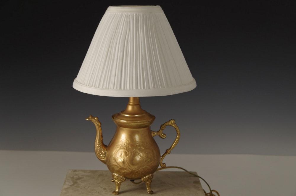 Brass Teapot Lamp; 1x1 ...