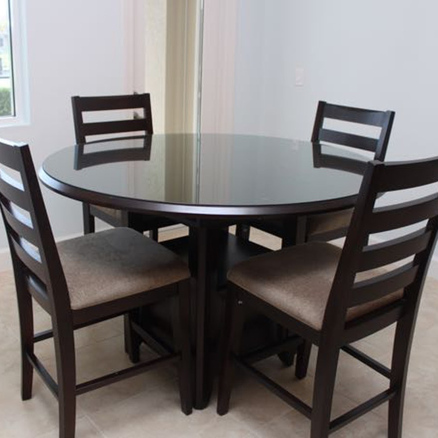 Casana Round High Top Dining Table And Chairs : EBTH