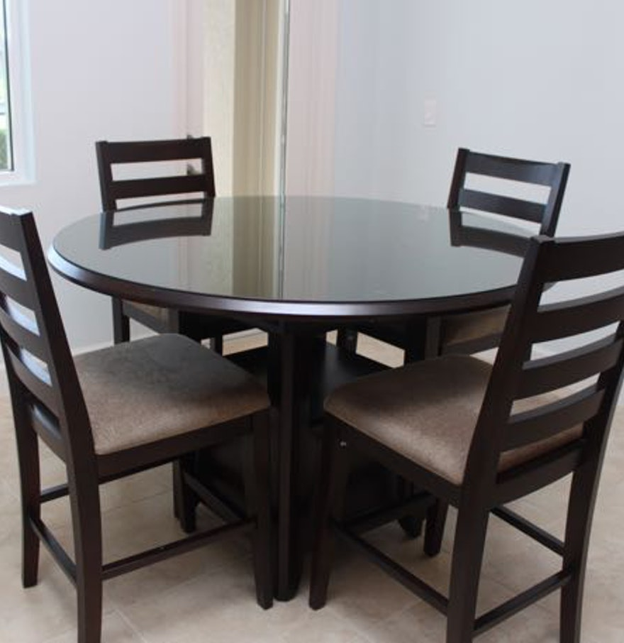 High Dining Table And Chairs: Casana Round High Top Dining Table And Chairs : EBTH