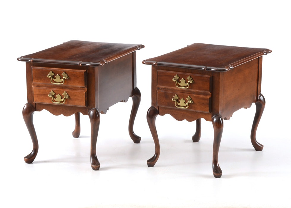 Pair Of A.A. Laun Mahogany Side Tables ...
