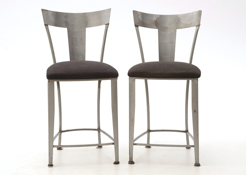 Pair Of Shaver Howard Bar Chairs ...