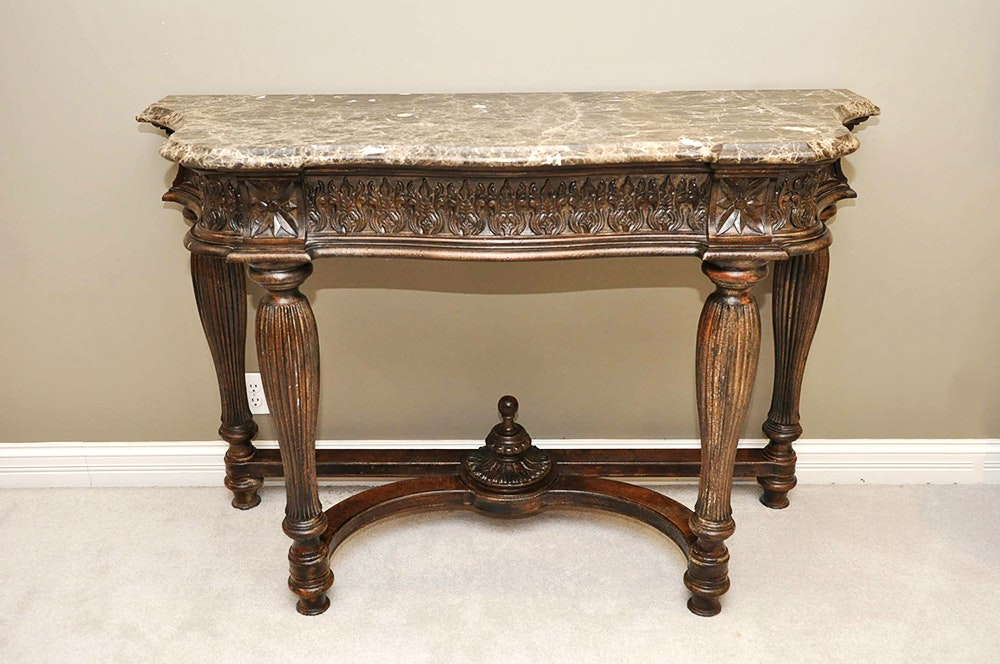 Drexel Heritage Marble Top Console Table ...