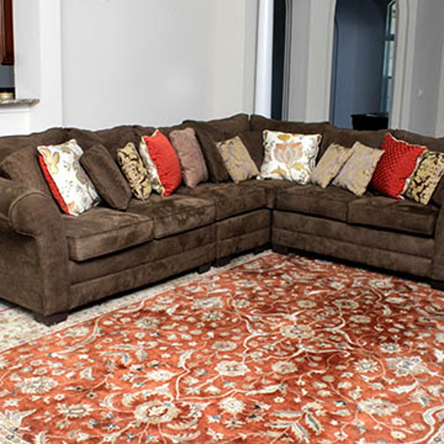 Ultrasuede Sectional Sofa Home Ideas