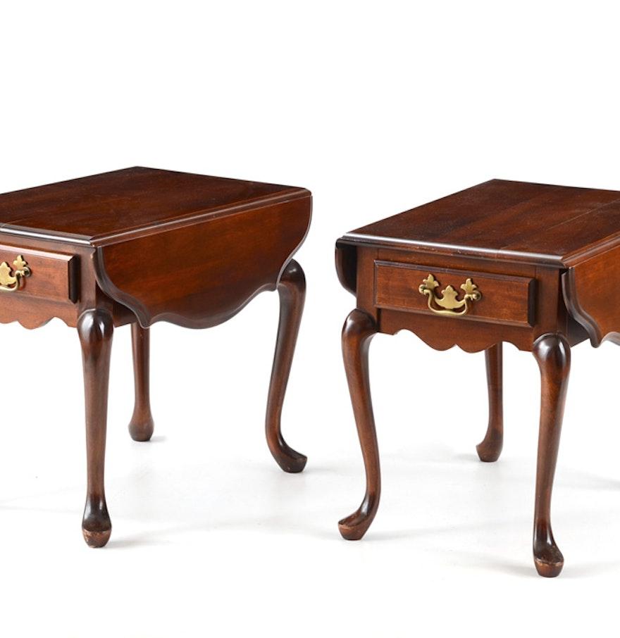 Aa Laun Coffee Table Pair Of Aa Laun Mahogany Side Tables Ebth