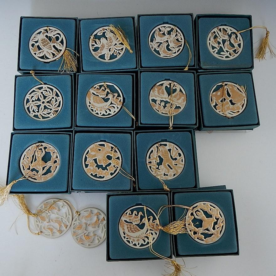 Lenox 12 Days Of Christmas Ornaments Ebth