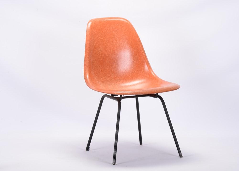Orange Fiberglass Eames Chair ...
