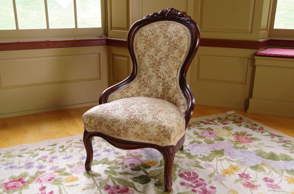 Victorian Rosewood Parlor Chair ...