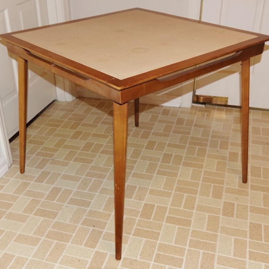 Mid Century Danish Modern Folding Card Table EBTH - Mid century modern card table